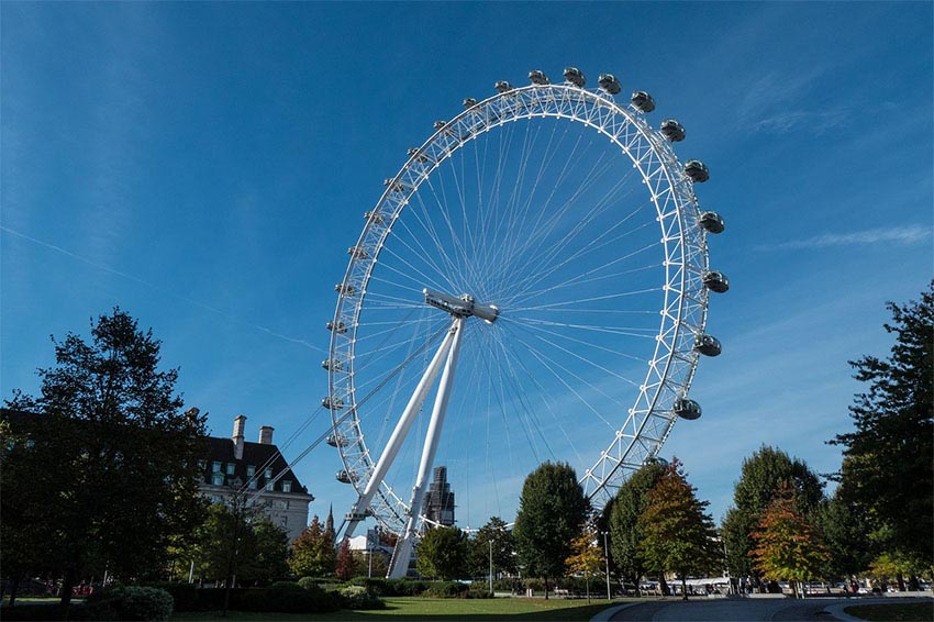 iconos del skyline de Londres: London Eye