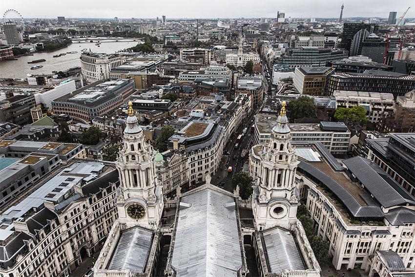 iconos del skyline de Londres: St Paul