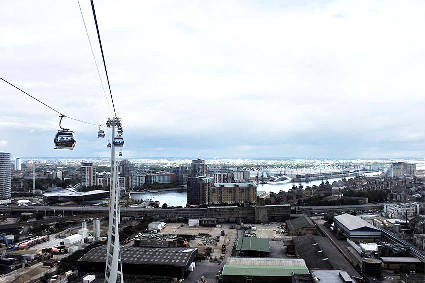 edificios con las mejores vistas de Londres-vistas desde el teleferico de Emirates