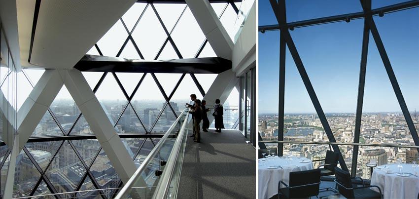 edificios con las mejores vistas de Londres-vistas desde el gherkin