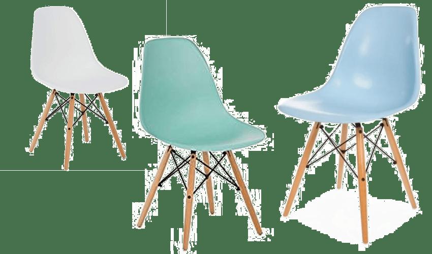 Silla DSW diseñado por los arquitectos Charles y Ray Eames