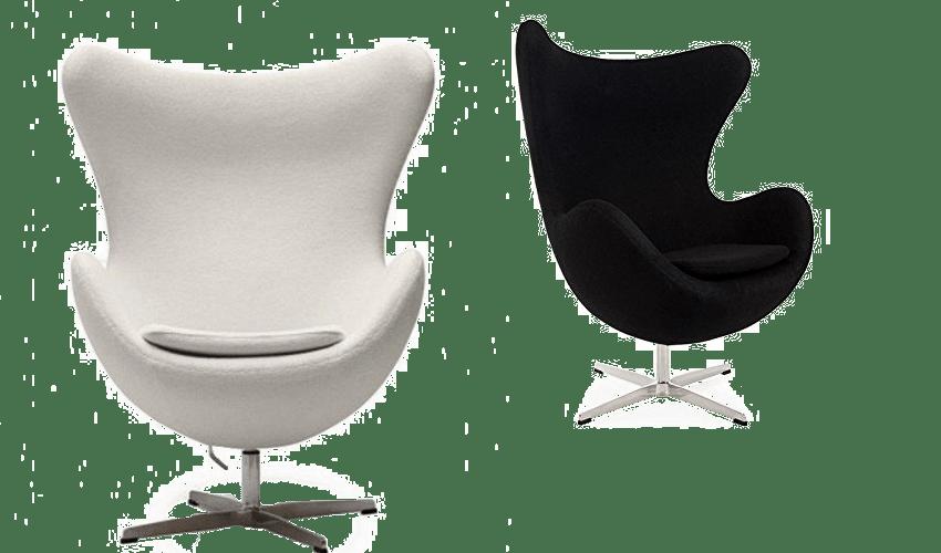 mobiliario diseñado por arquitectos: Silla The Egg de Arne Jacobsen
