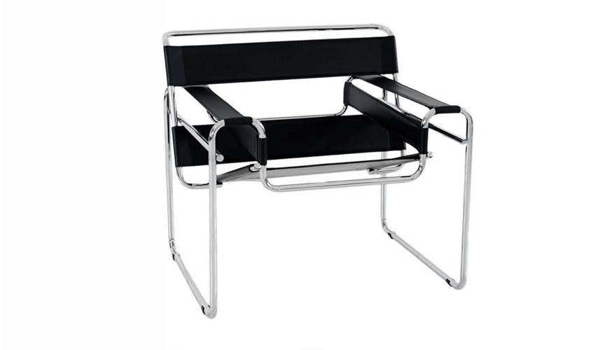mobiliario diseñado por arquitectos: Silla B3 o Wassily de Marcel Breuer