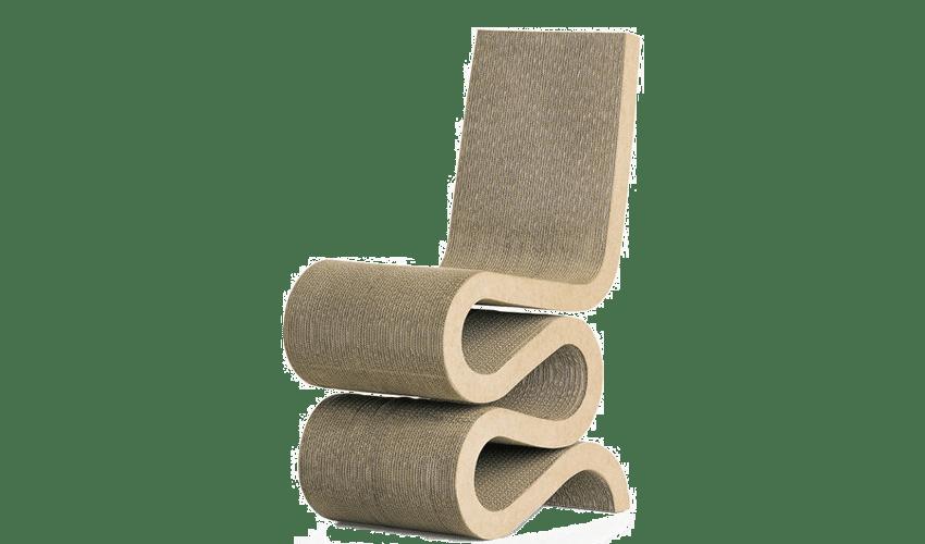 mobiliario diseñado por arquitectos: Silla Wiggle de Frank Ghery