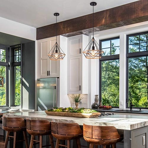 Una iluminación de estilo vintage y retro para tu cocina