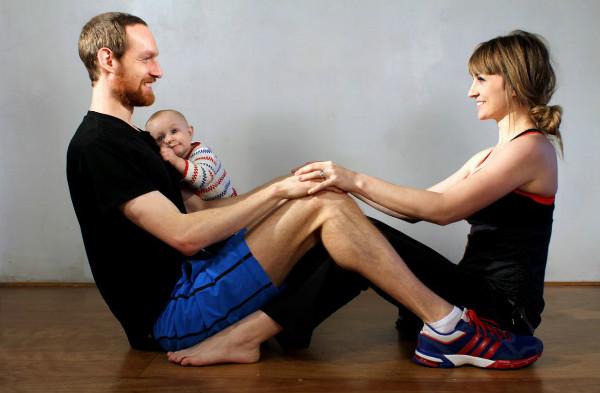 Papás en forma tienen bebés con mejor salud mental