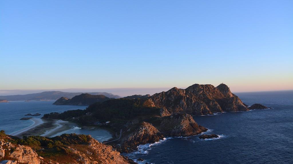 Panoramica de las Islas Cíes en Vigo, Galicia, España