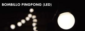 Bombillo pingpong LED
