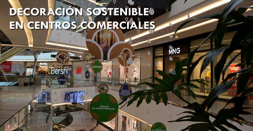 Decoración de temporada sostenible en centros comerciales