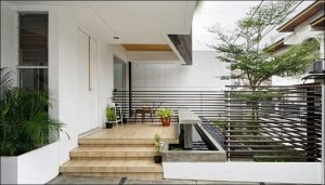 model teras rumah sederhana simpel lega elegan