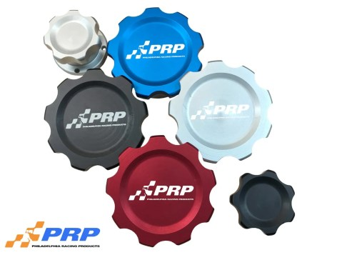 Blue, Black, Red, Clear large and small filler caps, Billet Filler Cap Kits