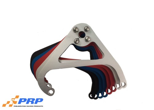 Clear, Black, Blue, Red Nitrous Valve Mounting Brackets made by PRP Racing Products