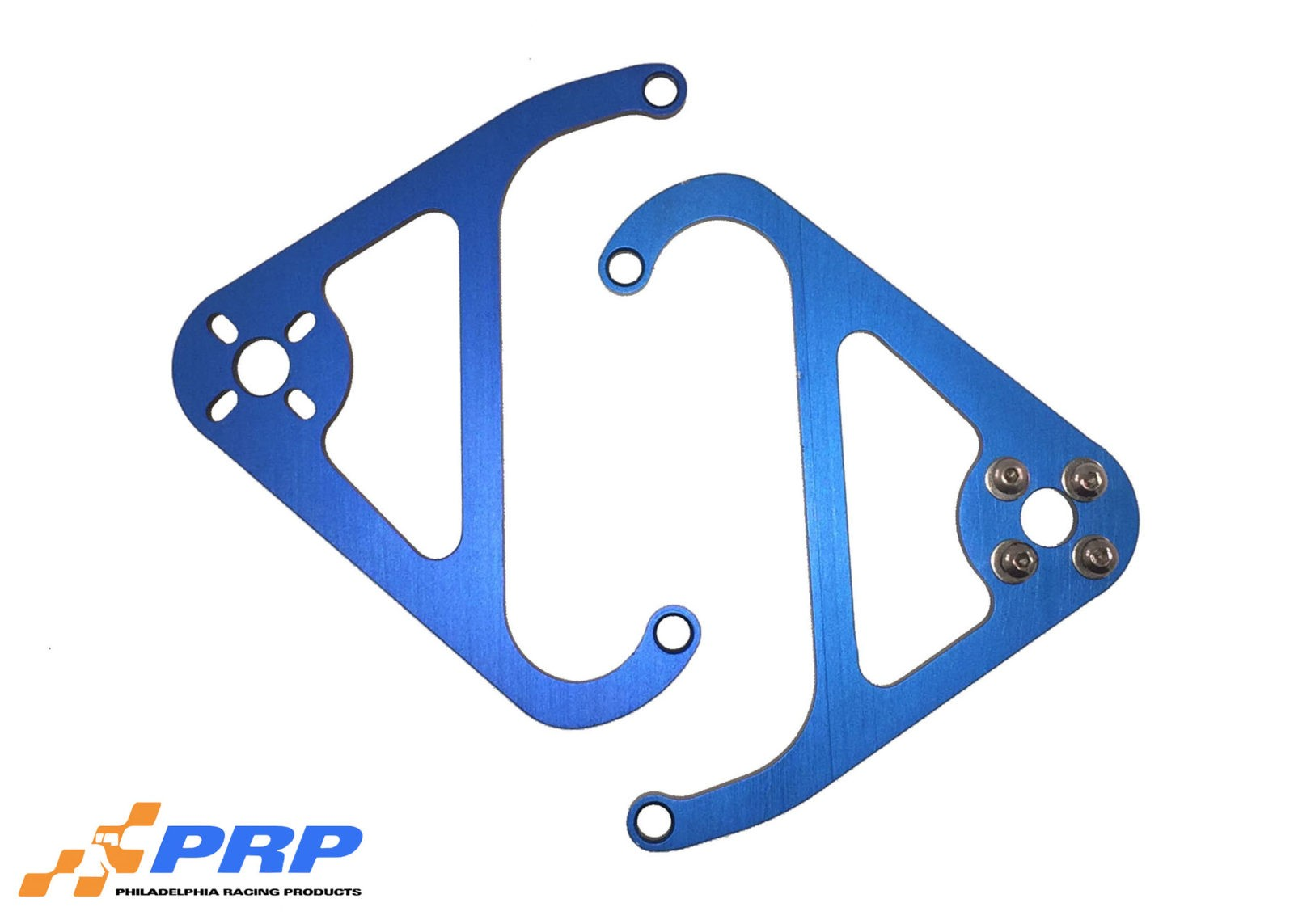 Blue Nitrous Valve Mounting Brackets made by PRP Racing Products