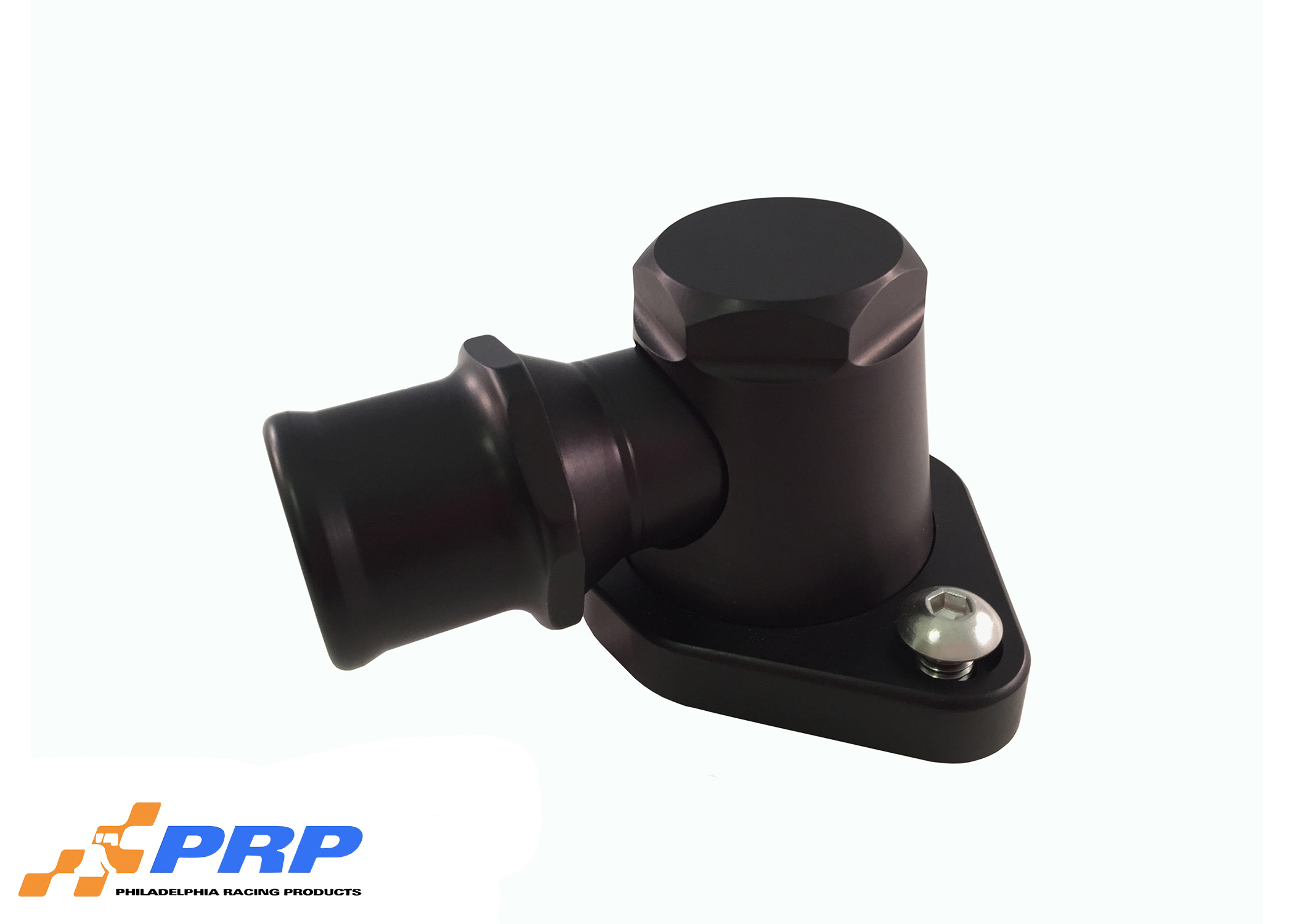 Black Billet Swivel Water Necks made by PRP Racing Products