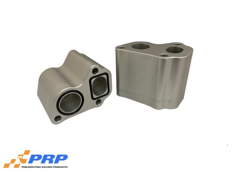 """Clear LS 3"""" water pump spacer made by PRP Racing Products"""