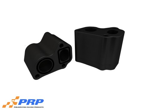 """Black LS 3"""" water pump spacer made by PRP Racing Products"""