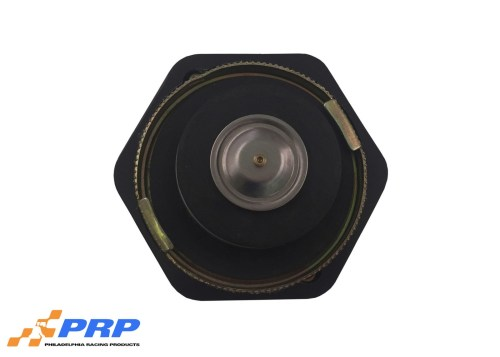 Black anodized radiator cap made by PRP Racing Products Back