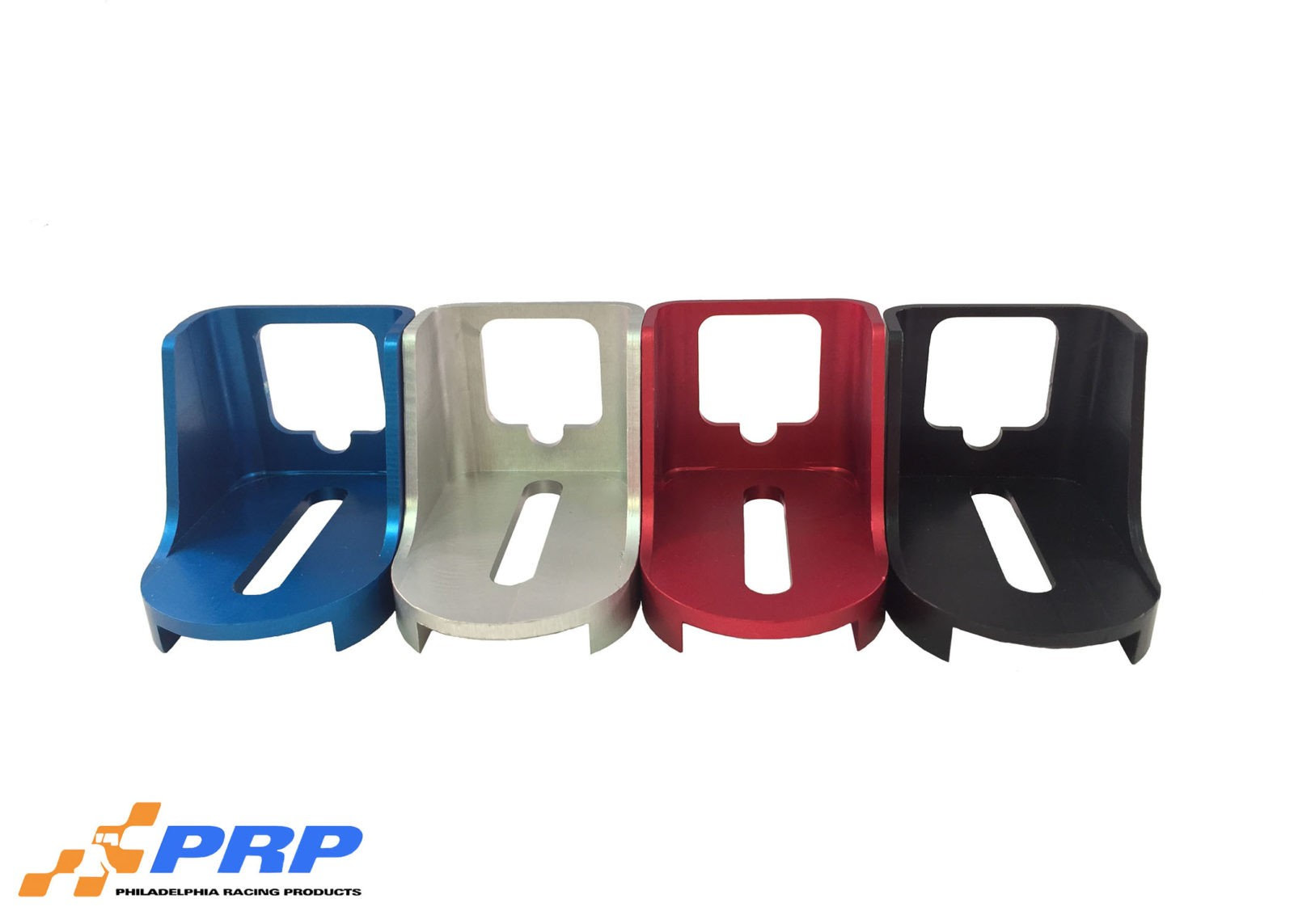 Clear Blue Red Black Kickdown Detent Cable Brackets made by PRP Racing Products