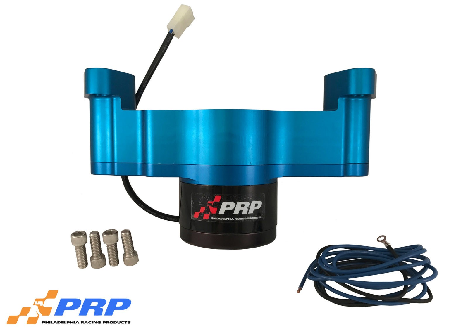 Blue Chevy Electric Water Pump made by PRP Racing Products