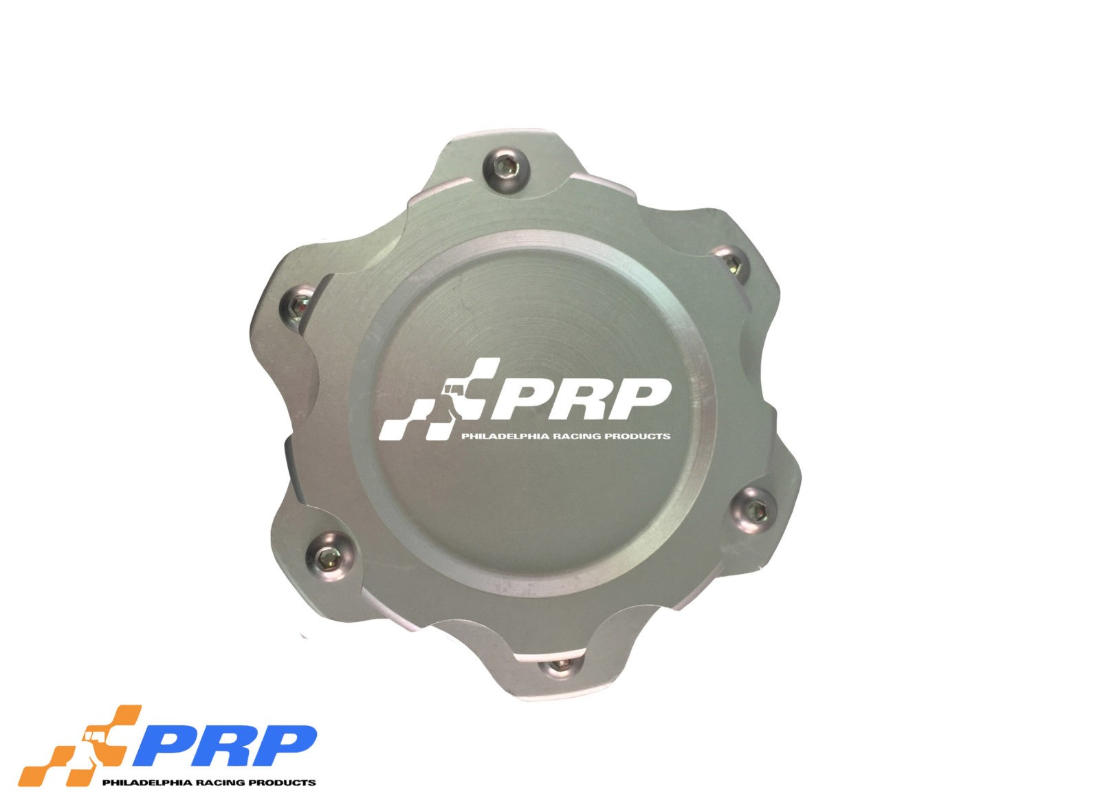 Clear anodized 6 Bolt Fuel Cell Cap made by PRP Racing Products