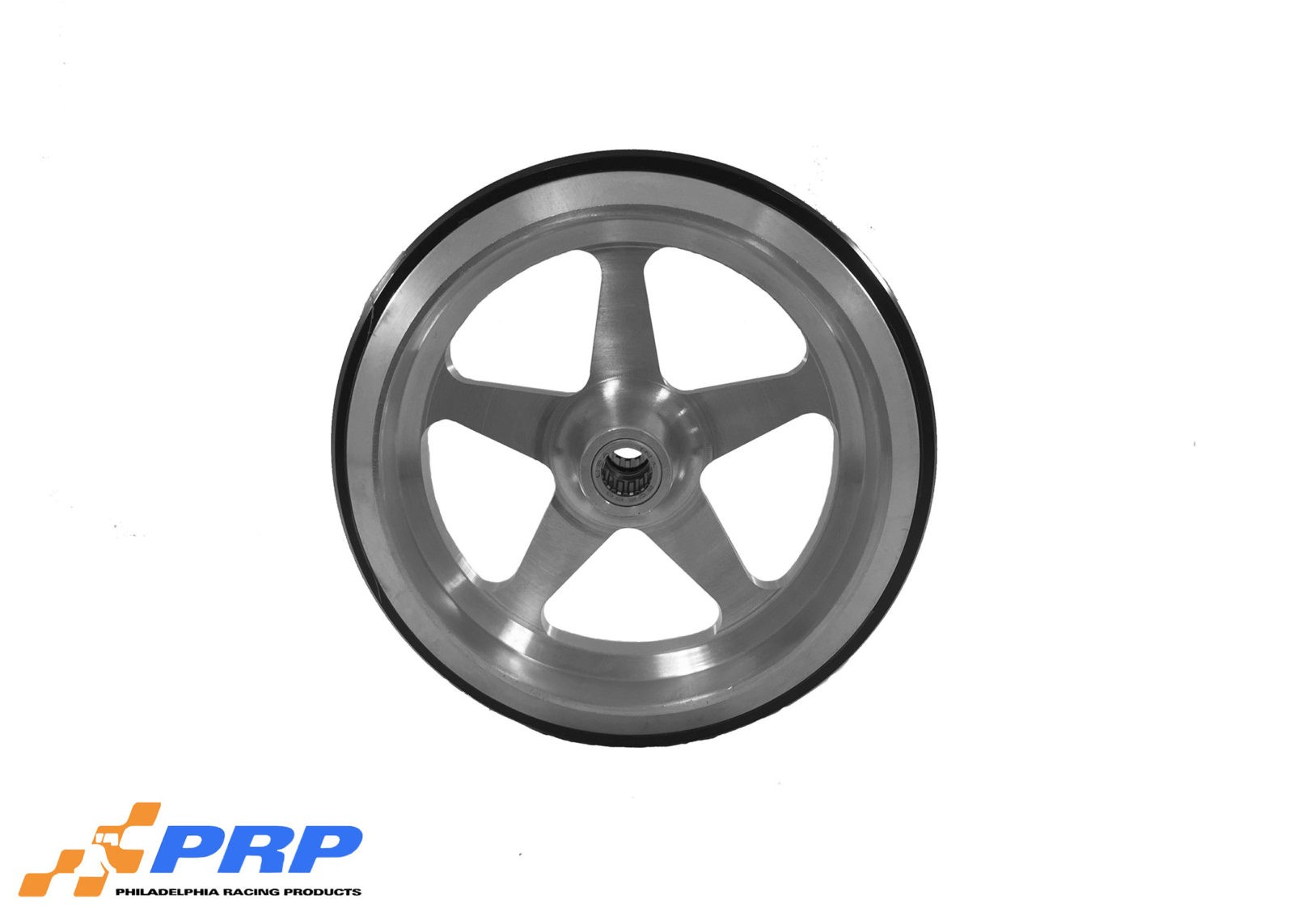PRP Clear Wheelie Bar Wheel Star Style with bearing made by PRP Racing Products