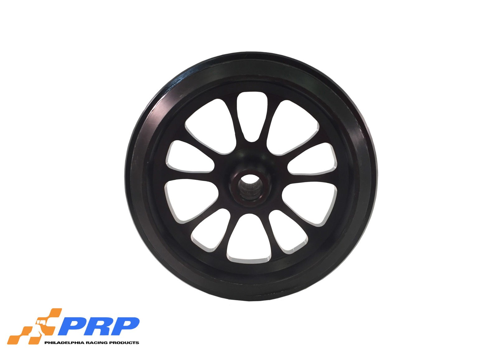 Black Anodized 10 Spoke Style Wheelie Bar Wheels made by PRP Racing Products