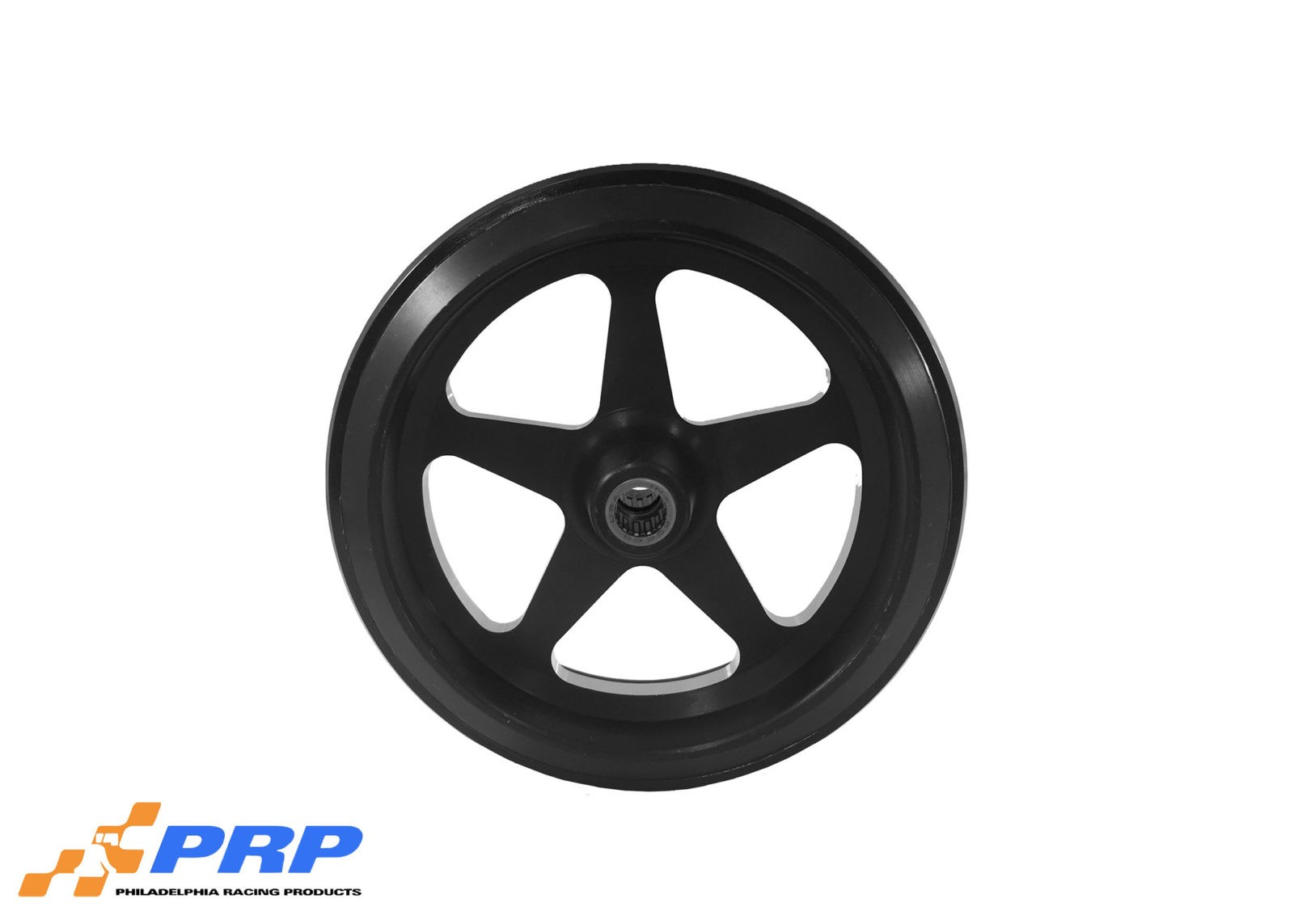Black Anodized Star Style Wheelie Bar Wheel with Bearing made by PRP Racing Products