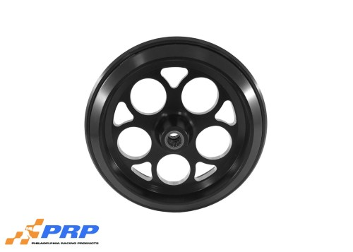 Black Anodized Hole Style Wheelie Bar Wheel with Bearing made by PRP Racing Products