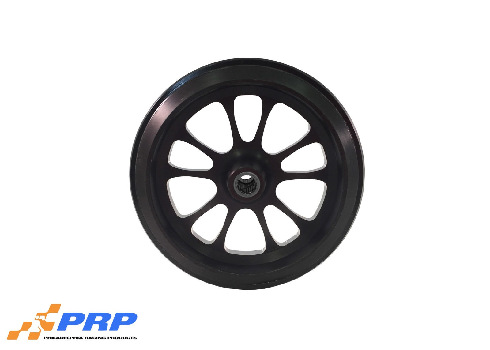 Black Anodized 10 Spoke Style wheelie bar wheels with Bearing made by PRP Racing Products