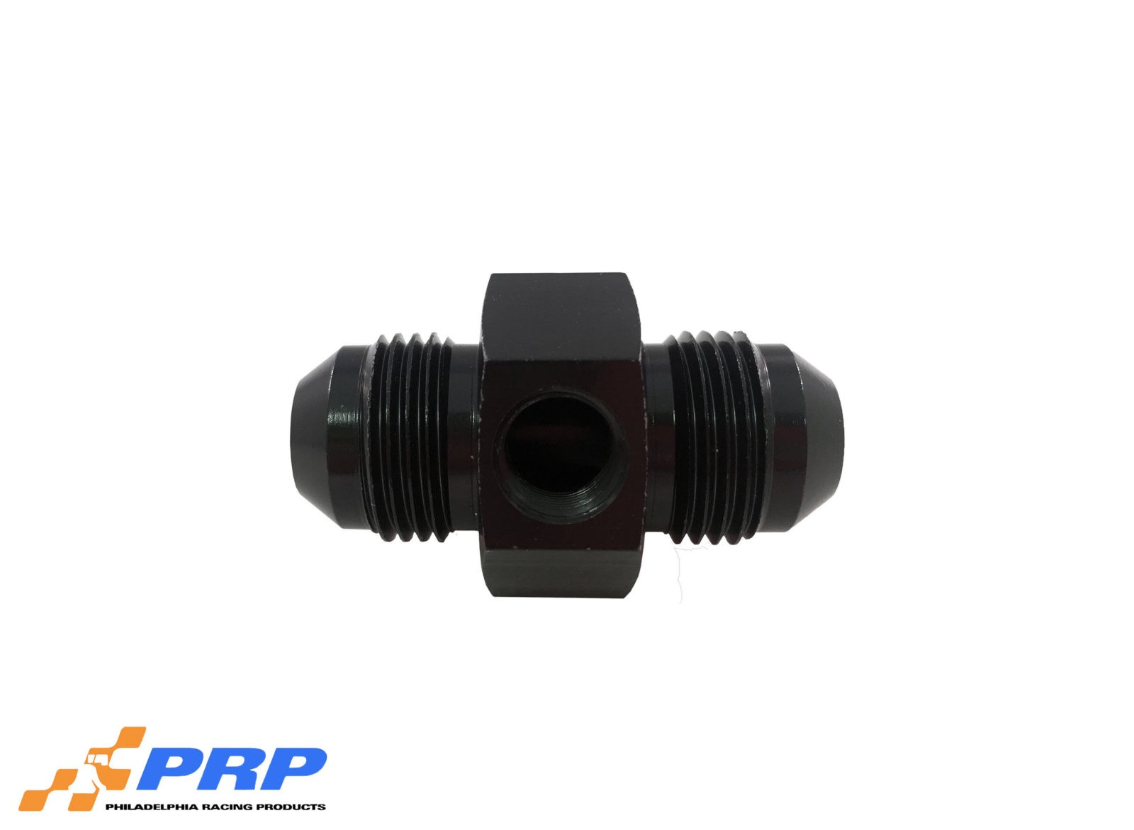 "Black 8AN Flare Union Adapter with 1/8"" Port by PRP Racing Products"