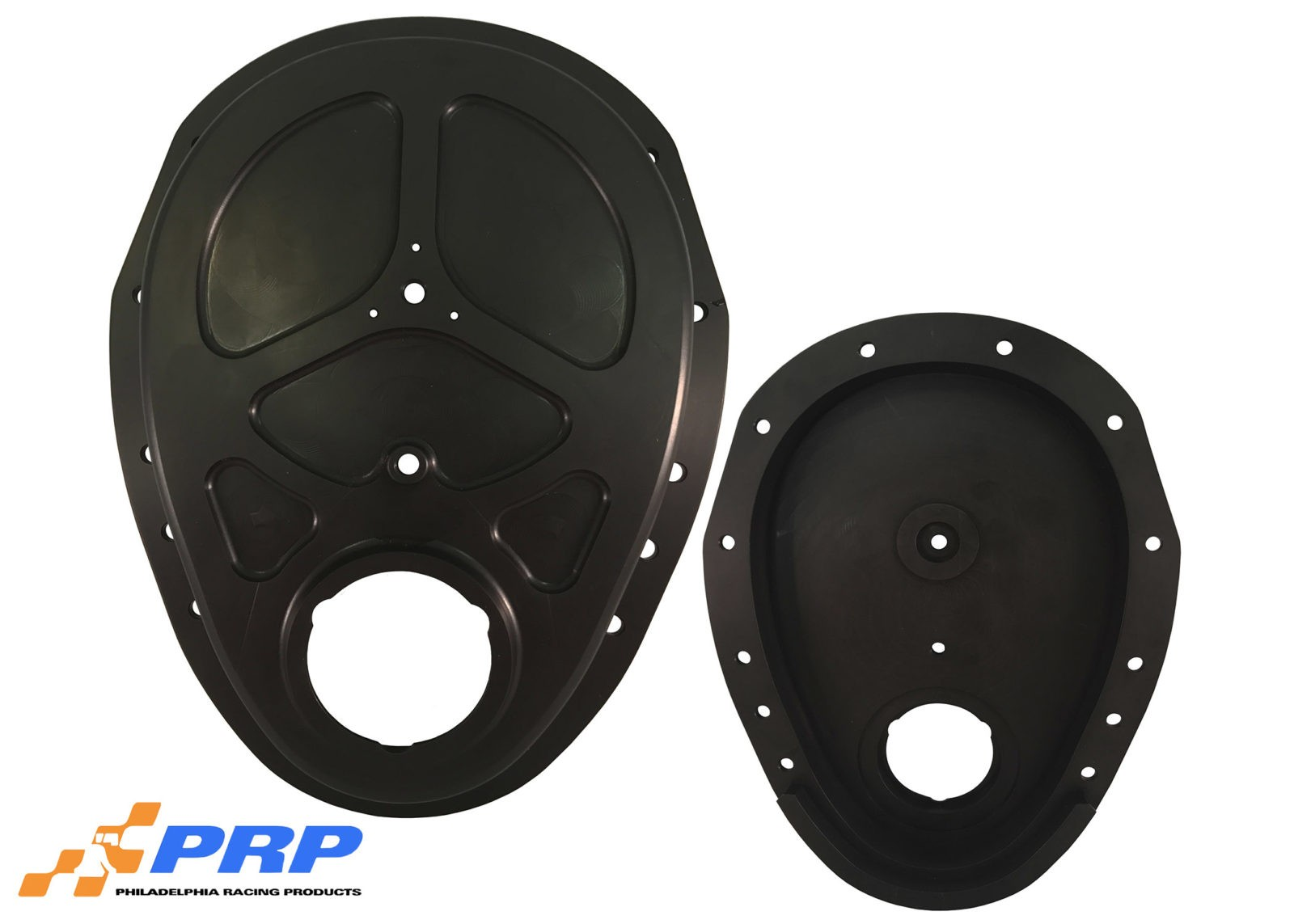 Black Billet Timing Cover Front and Back made by PRP Racing Products