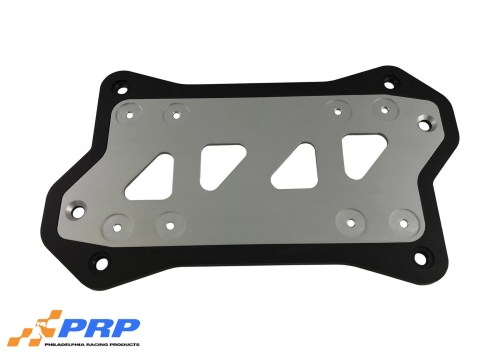 Silver and Black MSD Box Mounting Bracket made by PRP Racing Products