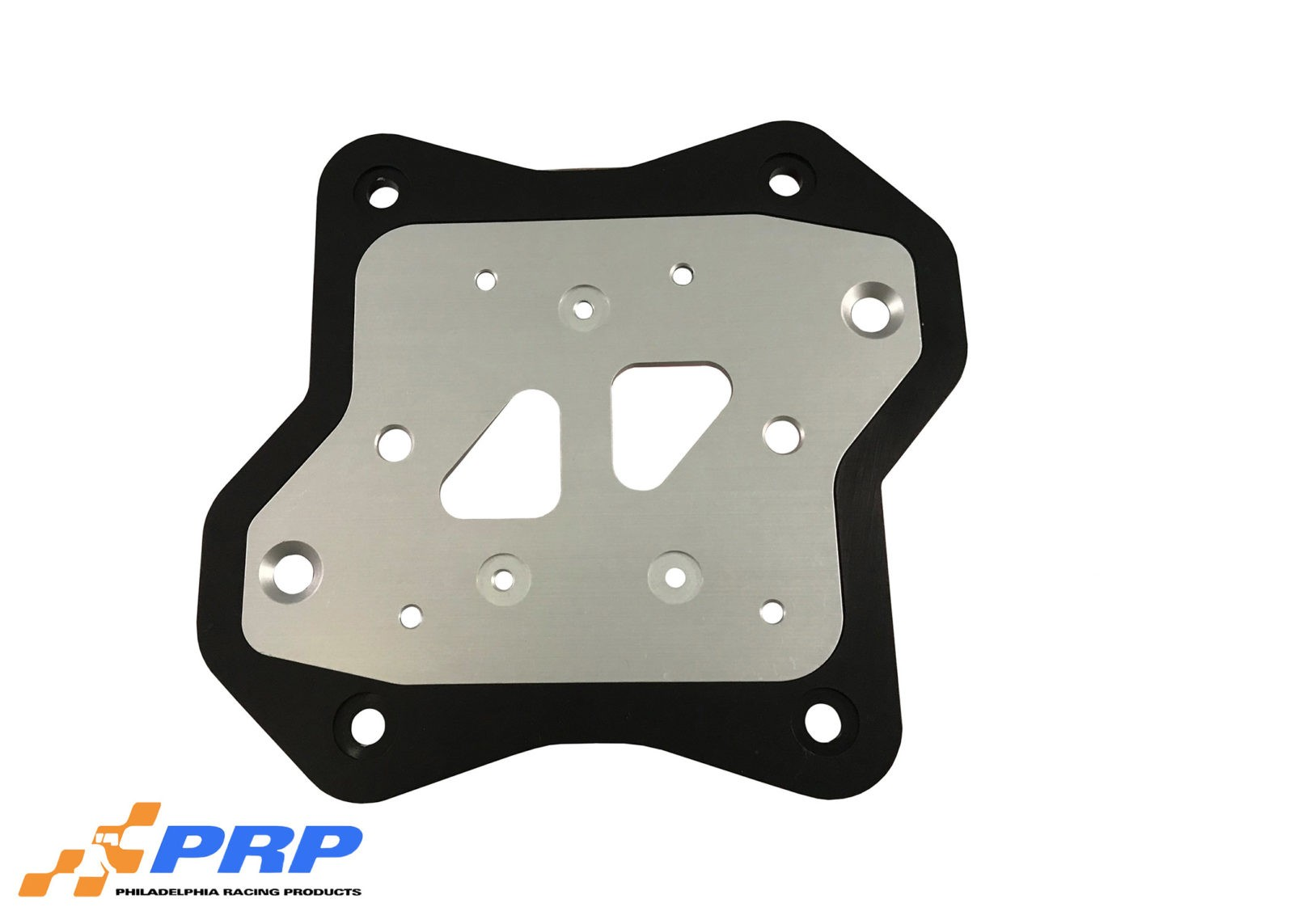 Silver and Black MSD Coil Mounting Bracket made by PRP Racing Products