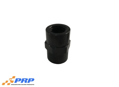 """Black Female Pipe Thread Coupler 1/4"""" made by PRP Racing Products"""