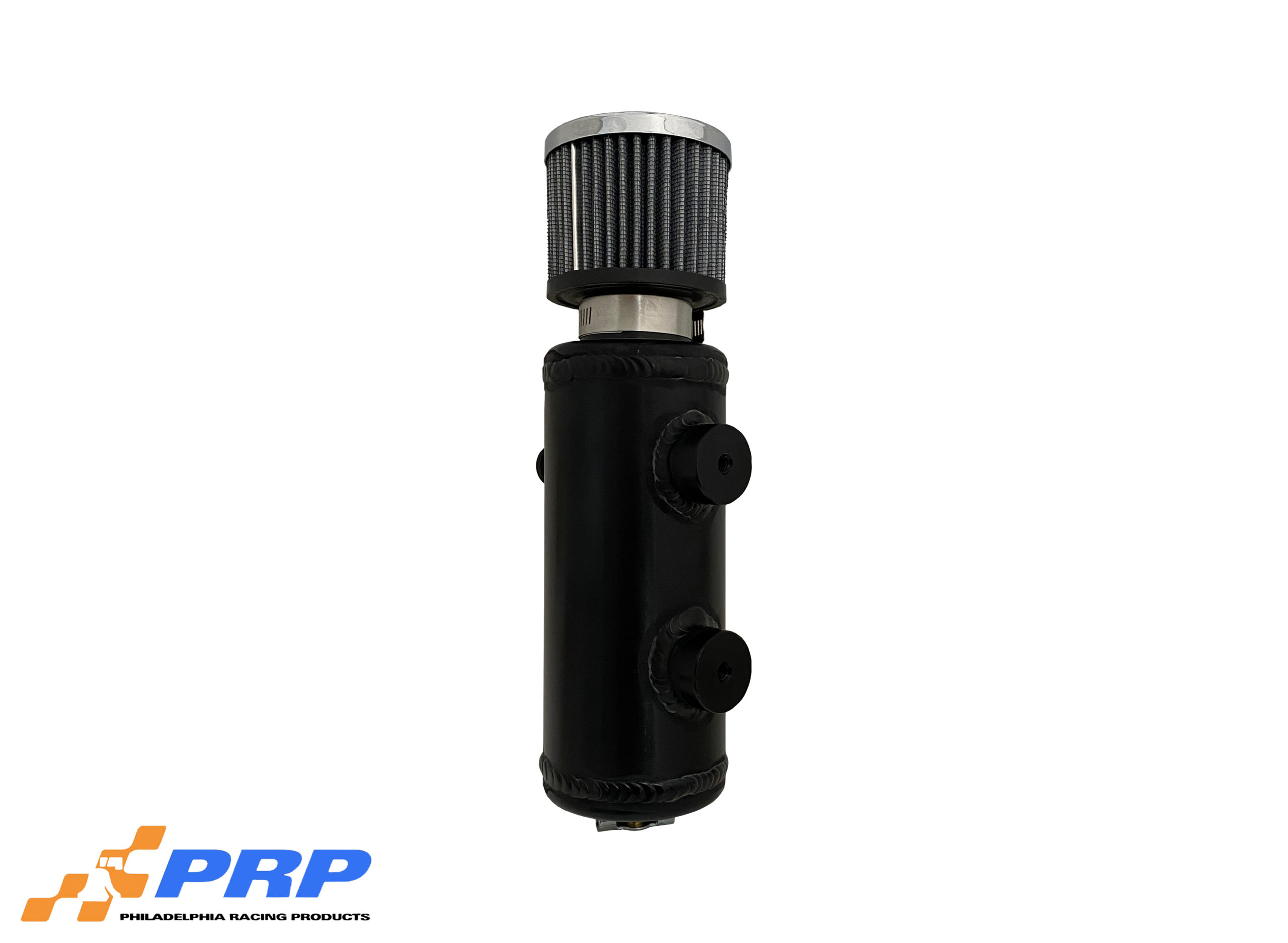 Black anodized Aluminum Breather Tank made by PRP Racing Products