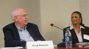 Panel: Funding Housing Mobility. From left to right: Fred Karnas (Kresge Foundation) and Brenda Hicks (HOME VA).