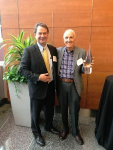 Award Ceremony. Philip Tegeler (PRRAC) and Alexander Polikoff.
