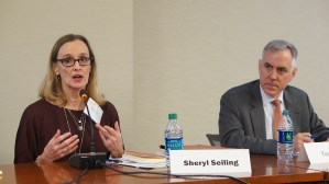 Panel: Choice-Mobility in the Rental Assistance Demonstration. From left to right: Sheryl Seiling (Housing Authority of Cook County) and Tom Davis (HUD Office of Recapitalization).