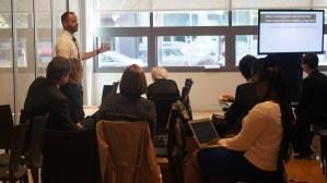 Pete Cimbolic (Baltimore Regional Housing Partnership) facilitating a breakout session on establishing program goals and then measuring them.