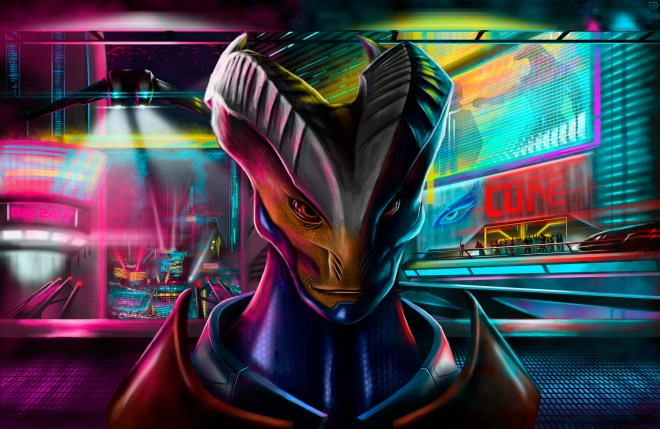 Alien bounty hunter by Bear1037