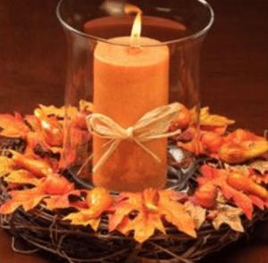maple candle centerpiece