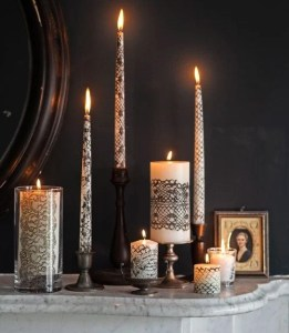 lacy candles