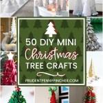 50 Diy Mini Christmas Tree Crafts Prudent Penny Pincher