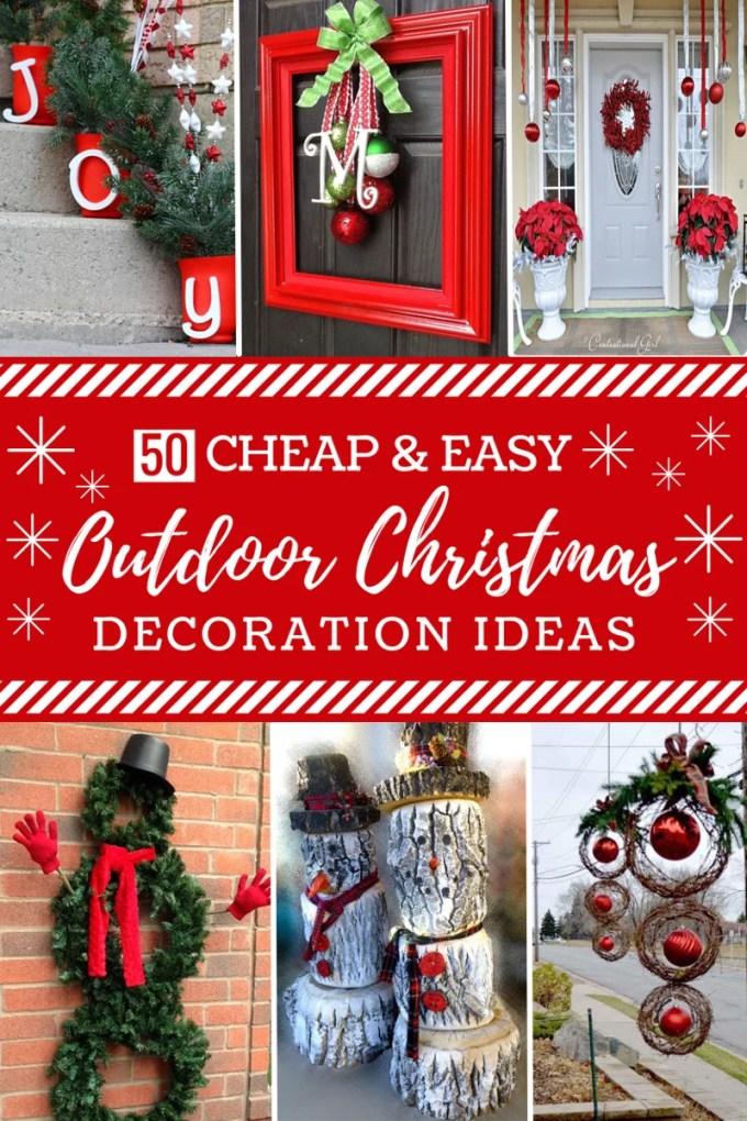 inexpensive diy outside christmas decorations christmaswalls co