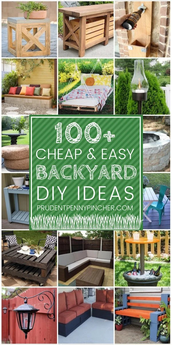 100 Cheap and Easy DIY Backyard Ideas - Prudent Penny Pincher on Diy Small Patio Ideas id=34247