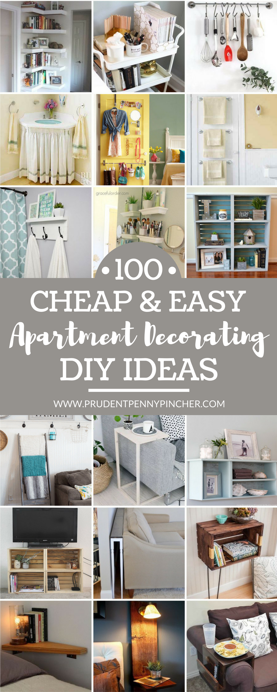 100 Cheap and Easy DIY Apartment Decorating Ideas ... on Apartment Decor Ideas On A Budget  id=64318