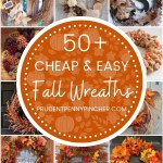 50 Cheap And Easy Diy Fall Wreaths Prudent Penny Pincher