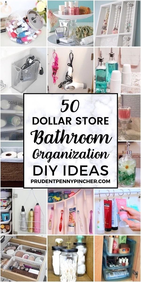 50 dollar store bathroom organization