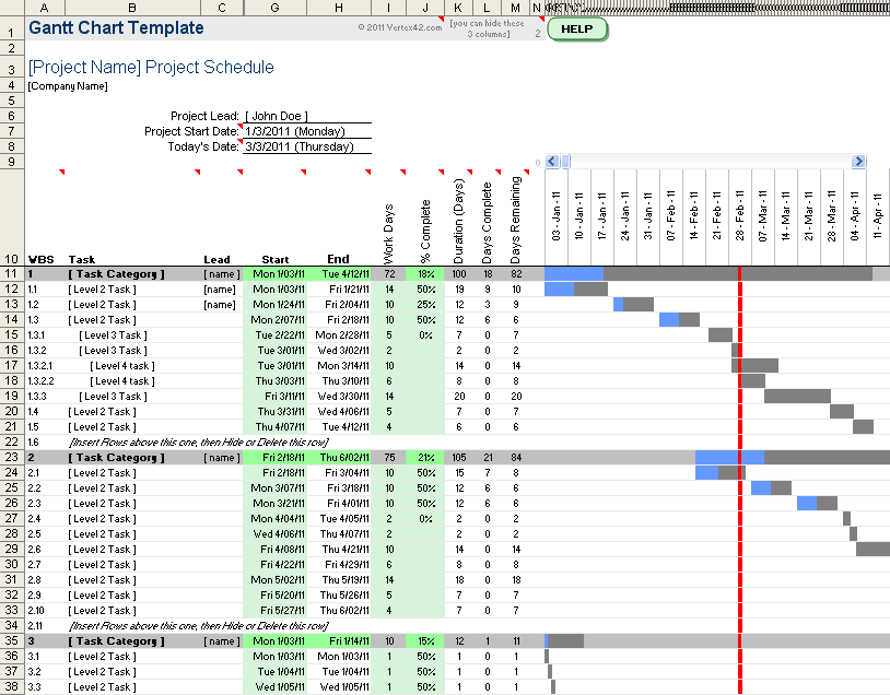 create gantt chart online sample