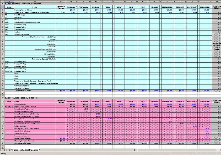 excel spreadsheet for business expenses sample